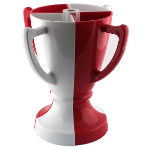 Кубок 4 бокала (бело-красный)