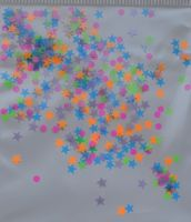 Звезды, кружочки - микс (малиновые, оранжевые, салатовые, сиреневые, голубые) (2мм, 3 мм)