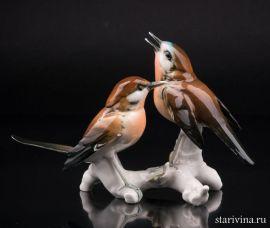 Две малиновки, Karl Ens, Германия, 1920 -30 гг., артикул 01150