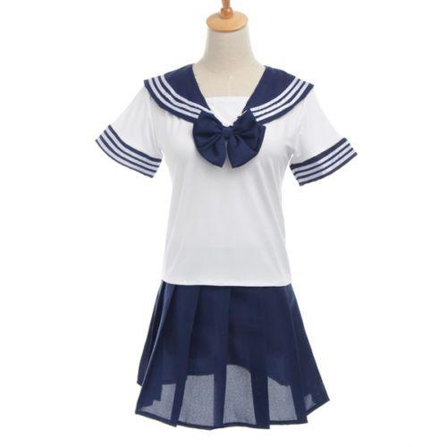 """Японская школьная форма """"Sailor Fuku"""" тёмно-синяя"""