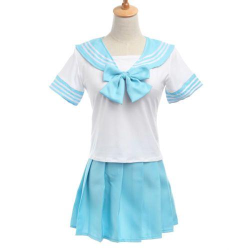 """Японская школьная форма """"Sailor Fuku"""" голубая"""