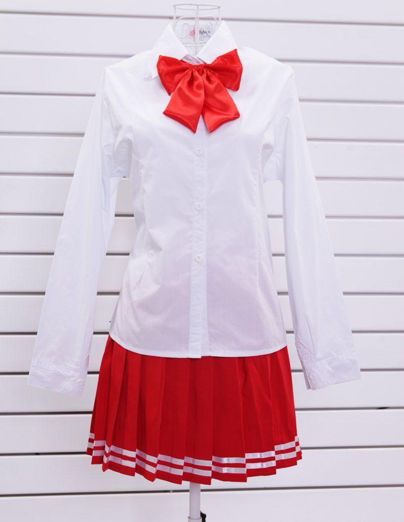 Школьная форма с длинным рукавом красная