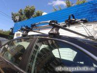 Багажник на крышy Honda Accord (с 2013 г.), Атлант, аэродинамические дуги, опоры Е