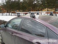 Багажник на крышу Hyundai Solaris, Атлант, прямоугольные дуги