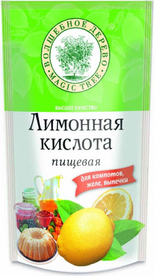 ВД Лимонная кислота 200 г  ДОЙ-пак