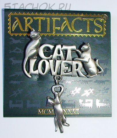 """Брошь """"Любителям кошек"""" под олово"""