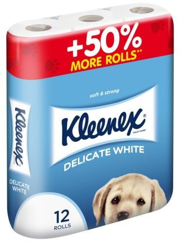 """KLEENEX Туалетная бумага """"Delicate White"""" двухслойная, 12 шт"""