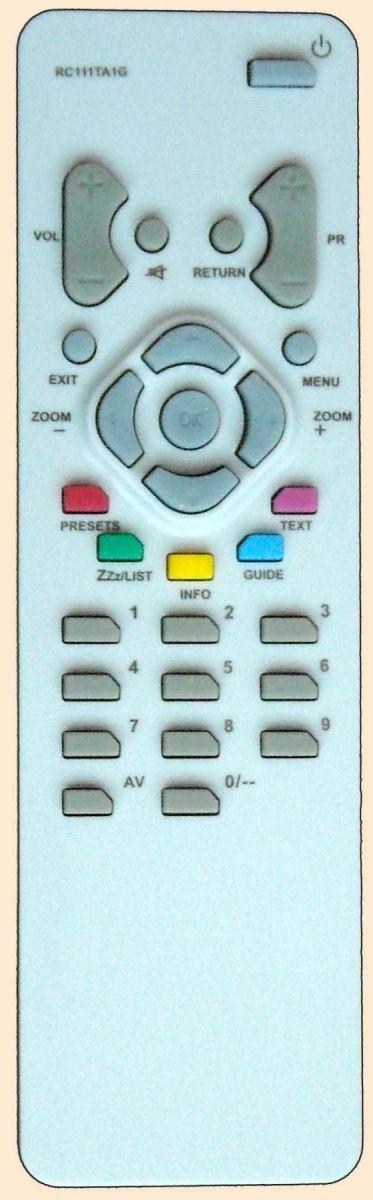 Пульт для Thomson RC111TA1G (TV) (14MF115, 14MF135, 14MG115, 14MG125, 14MG134X, 14MG135, 14MG135KG, 14MG135KH, 14MK135, 14MK142MV, 14MK145RM, 14MK151, 14ML115, 15HT195, 15MH182, 15MH182KG, 20DG132, 20MF130G, 20MG132, 21DC135KG, 21DC150S)