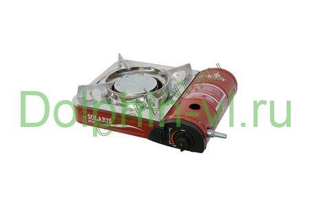 Портативная газовая плита Solaris Plus TS-701 (керамическая конфорка + с переходником под бытовые баллоны)