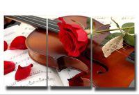 Модульная картина Роза и скрипка