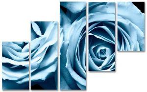 Модульная картина Голубая роза