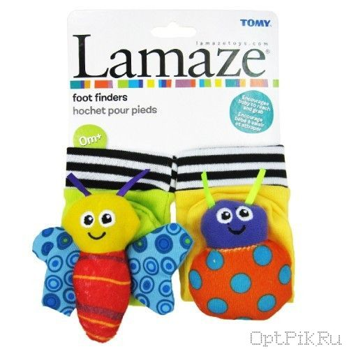 Цветные носочки Lamaze на картоне