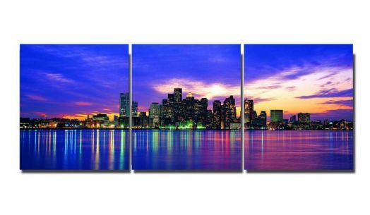 Модульная картина Панорамное фото города