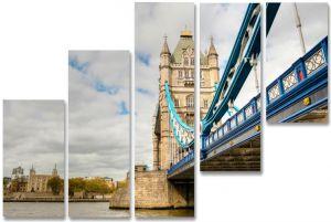 Модульная картина Мост и башня
