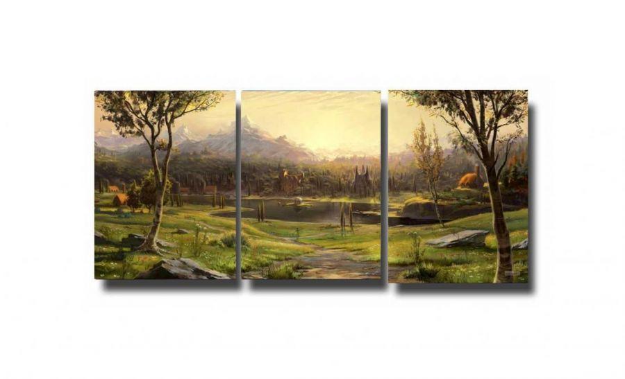 Модульная картина Поляна у озера