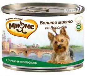 Мнямс консервы для собак Болито мисто по-Веронски (дичь с картофелем), 200 г.