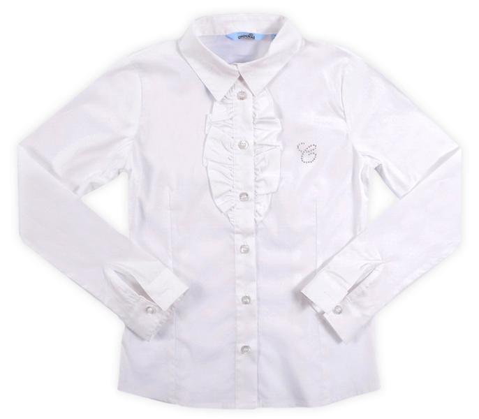 Блуза белая для девочки 7 лет