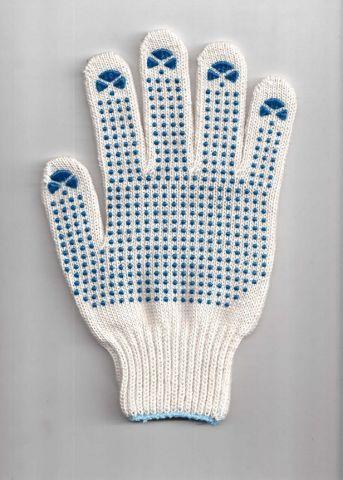 перчатки рабочие хб 6 нитей 7 класс супер с пвх