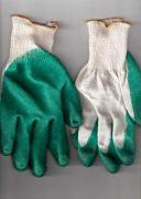 перчатки рабочие хб 13 класс с одинарным латексным покрытием