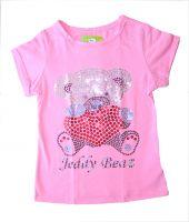 розовая блузка с блестками Мишка