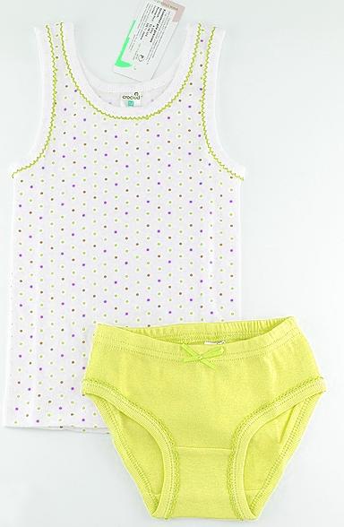 Желтый комплект нижнего белья для девочки