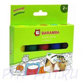 Baramba. Акриловые краски, тюбики 5 шт по 25 мл
