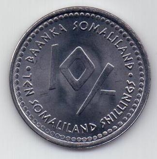 10 шиллингов 2006 г. Телец Сомали