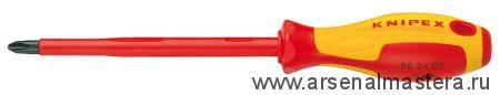 Отвертка для винтов с крестообразным шлицем Phillips (крестообразная 1000 V ) KNIPEX 98 24 03
