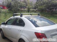 Багажник на крышу Chevrolet Aveo (T300) (4-dr sed.. 5-dr hatch.), Атлант, аэродинамические дуги