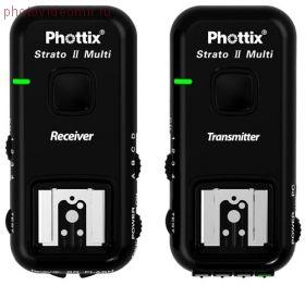Проводной и радио синхронизатор вспышек Phottix Strato II 2.4 GHz 5 в 1 для всех камер Nikon
