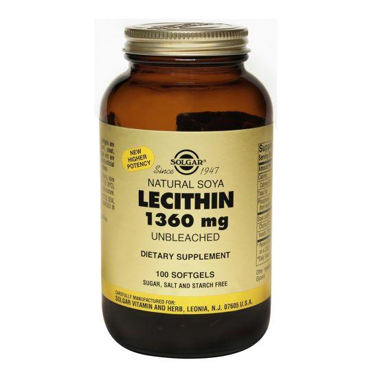 Солгар Натуральный соевый лецитин (100 капсул)