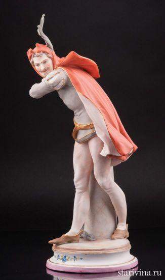 Фарфоровая статуэтка Мефистофель производства Германия
