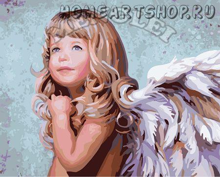 """Картина по номерам """"Белокурый ангел"""""""