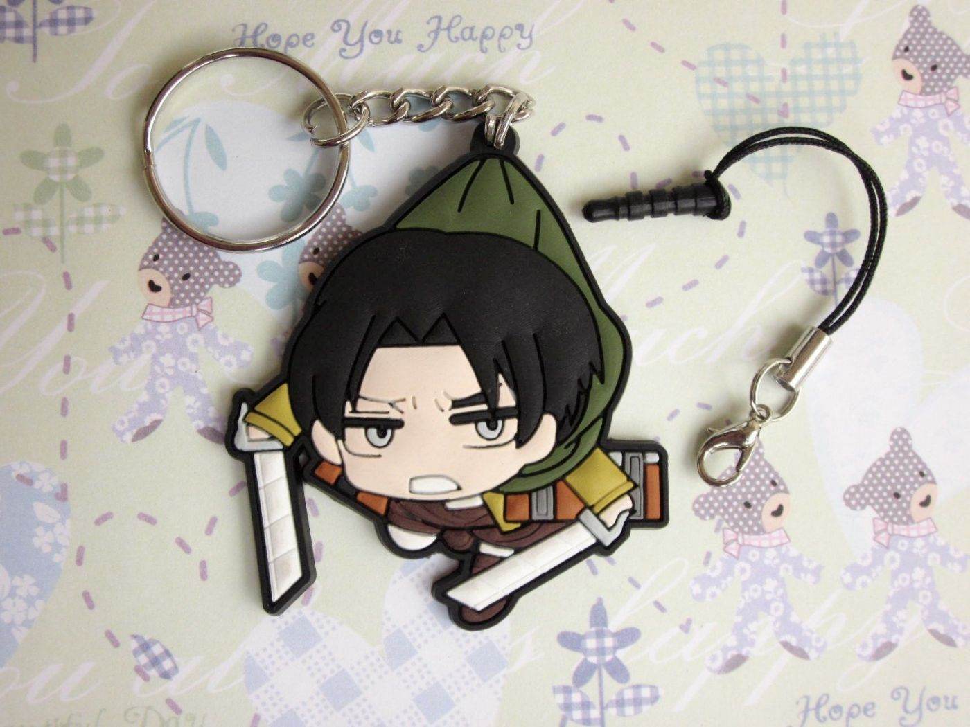 Аниме брелок Attack on Titan: Levi Scout ver.
