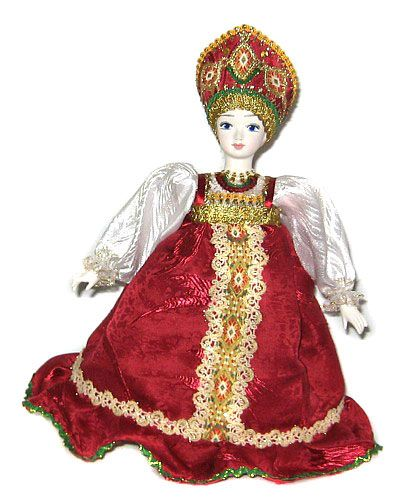Кукла грелка на чайник Луша