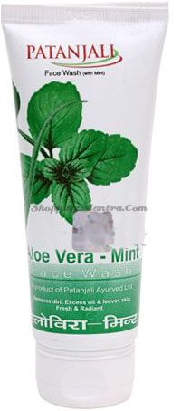 Гель для умывания Алое вера&Мята Патанджали Аюрведа (Divya Patanjali Aloevera Mint Facewash)