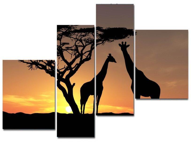Модульная картина Жирафы