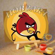 """Картина по номерам """"Angry Birds. Red bird. В полнолуние"""""""
