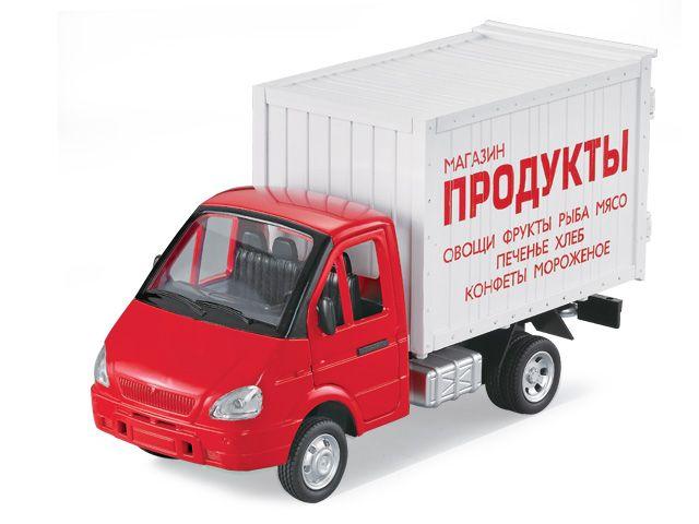 Машина 1:27 Газель Грузовой фургон Продукты