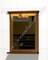 """Зеркало с полкой для ванной комнаты """"Челси-2 УОРВИК-65 орех"""""""