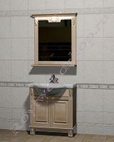 """Мебель в ванную из дерева """"Челси-2 УОРВИК-80 береза"""" с зеркалом"""