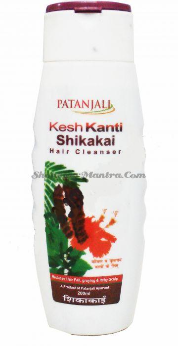 Шампунь с мыльными бобами Кеш Канти Шикакай Патанджали Аюрведа | Divya Patanjali Kesh Kanti Shikakai Shampoo