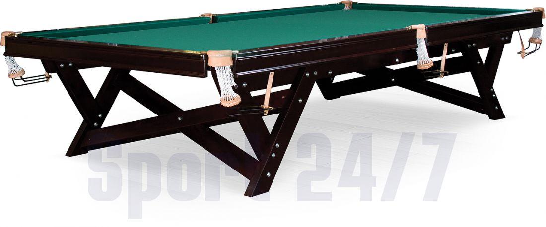 "Бильярдный стол / пирамида ""Hunter"" 12 ф (вишня, плита 25 мм)"
