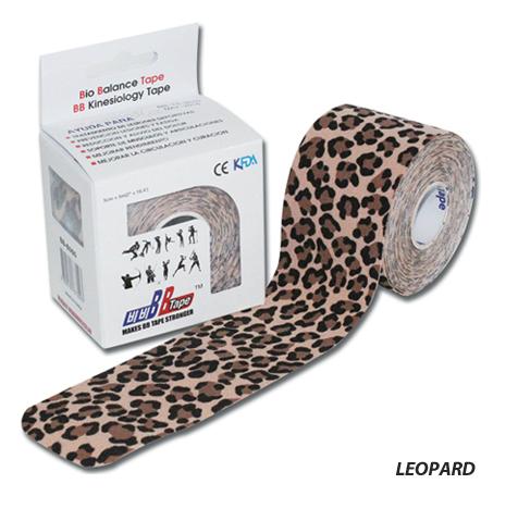 Кинезио тейп BBTape, леопард (5 см х 5 м)