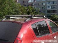 Багажник на крышу - дуги на рейлинги Renault Sandero / Renault Sandero Stepway, аэродинамический профиль, Евродеталь