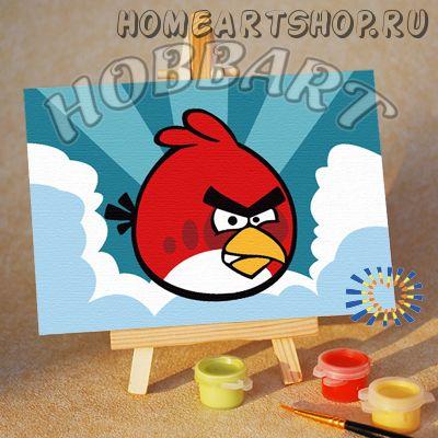 "Картина по номерам ""Angry Birds. Red bird. Сквозь облака"""