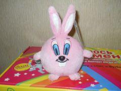 розовый заяц мячик
