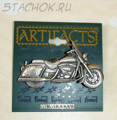 "Брошь ""Мотоцикл Harley Davidson"" под олово"