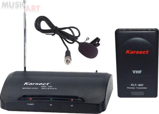 KARSECT KRV-100/KLT-80V Радиосистема с петличным микрофоном