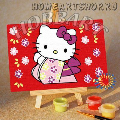 """Картина по номерам """"Hello Kitty. Хелло Китти. Кимоно"""""""